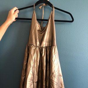 Metallic gold retro dress